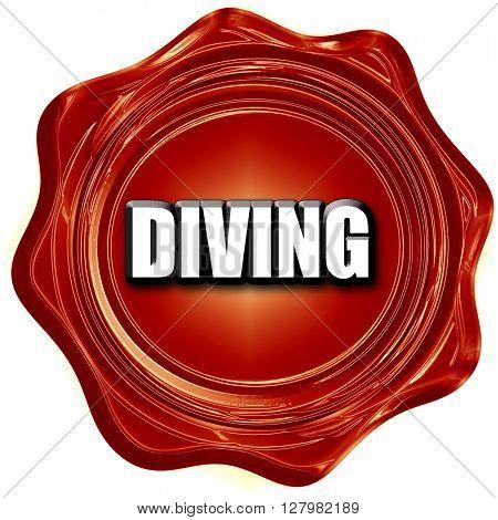 diving sign background