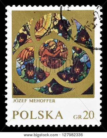 POLAND - CIRCA 1971 : Cancelled postage stamp printed by Poland, that shows painting by Mehoffer.