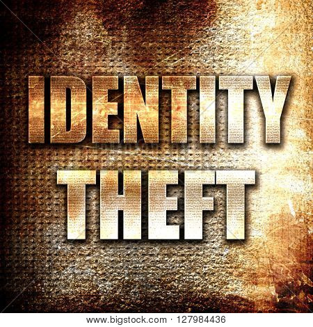 Identity theft fraud background