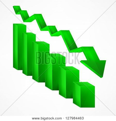 Arrow Green Chart Down