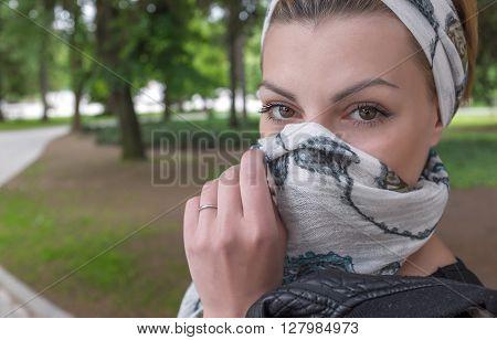 Closeup Portrait Of Mystic Woman