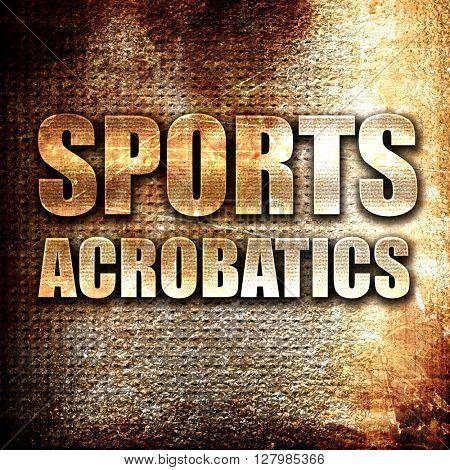 sports acrobatics sign background