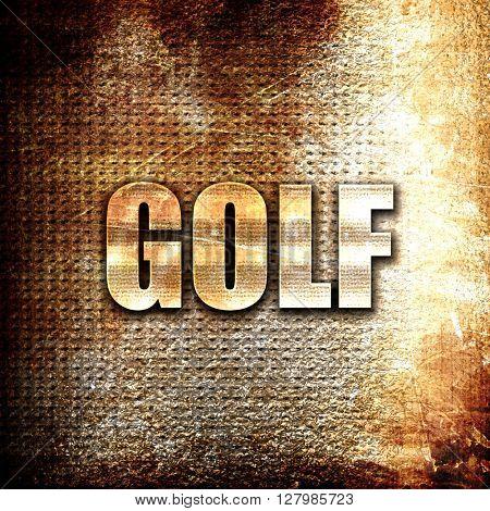 golf sign background