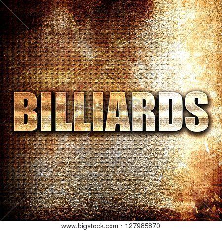 billiards sign background
