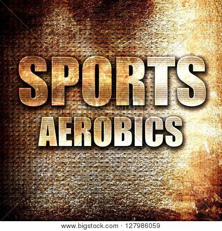 sports aerobics sign background