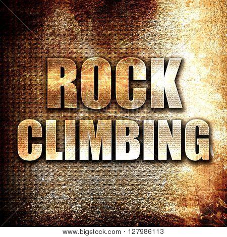 rock climbing sign background