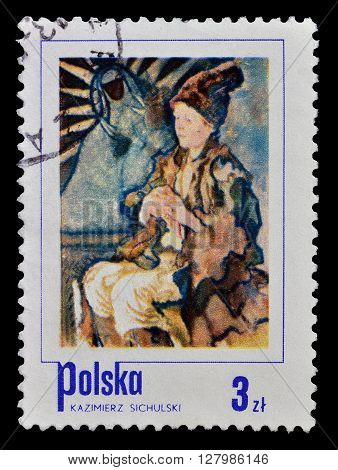 POLAND - CIRCA 1974 : Cancelled postage stamp printed by Poland, that shows painting by Sichulski.