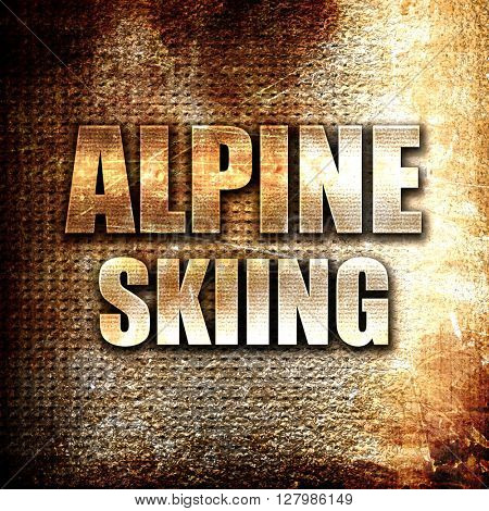 alpine skiing sign background