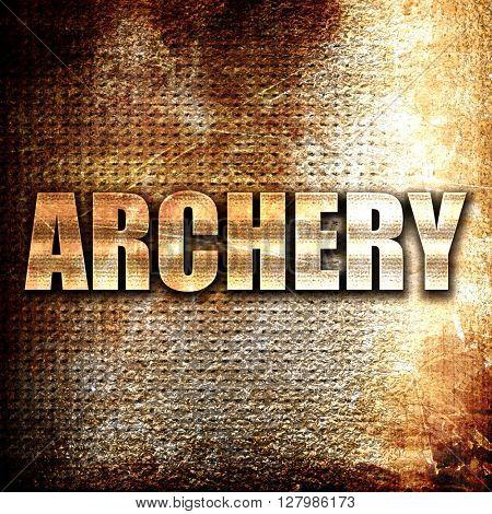 archery sign background