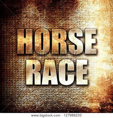 horse race sign