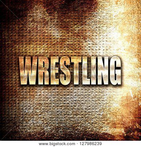 wrestling sign background