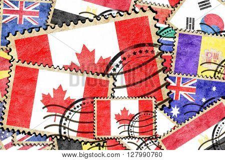 Canada vintage  postal stamp