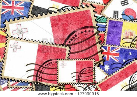 Malta vintage  postal stamp