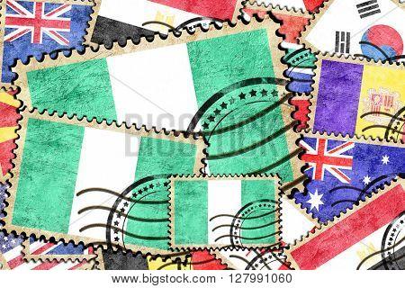 Nigeria vintage  postal stamp