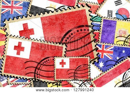 Tonga vintage  postal stamp