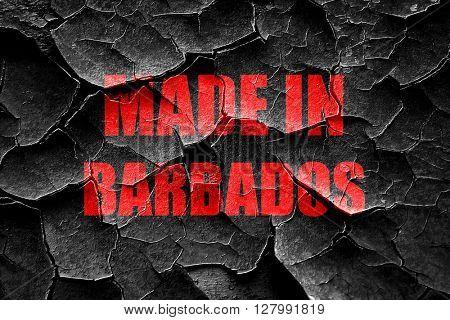 Grunge cracked Made in barbados