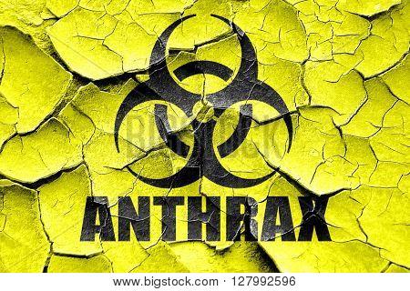 Grunge cracked Anthrax virus concept background