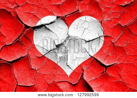 Grunge cracked Hearts card background