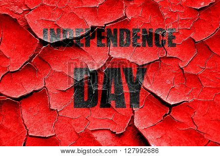 Grunge cracked Happy independence day
