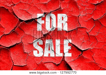 Grunge cracked For sale sign