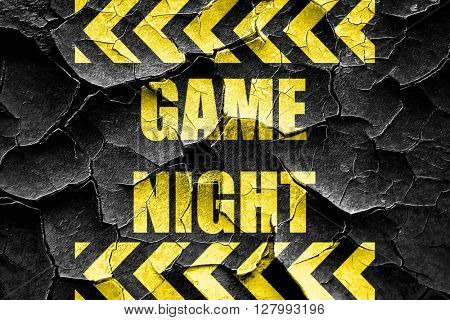 Grunge cracked Game night sign