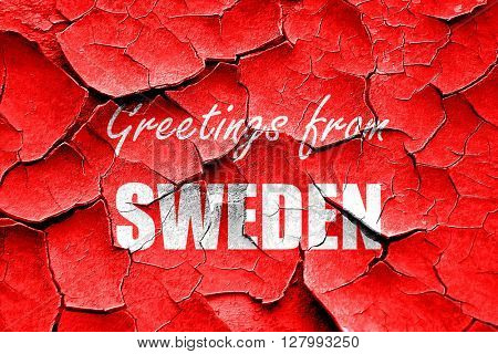 Grunge cracked Greetings from