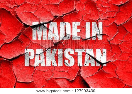 Grunge cracked Made in pakistan