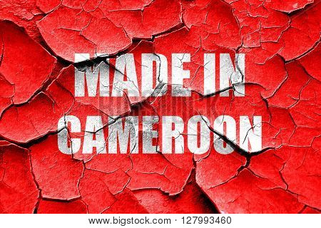 Grunge cracked Made in cameroon