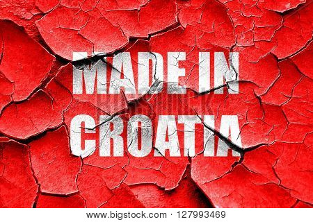 Grunge cracked Made in croatia