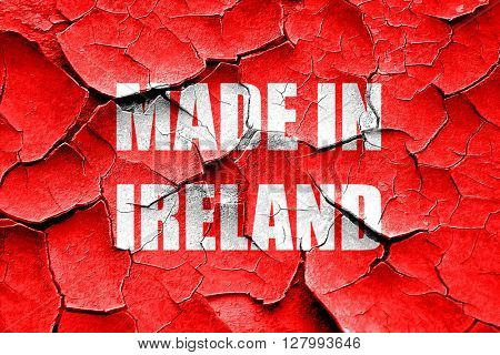 Grunge cracked Made in ireland