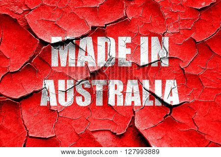 Grunge cracked Made in australia
