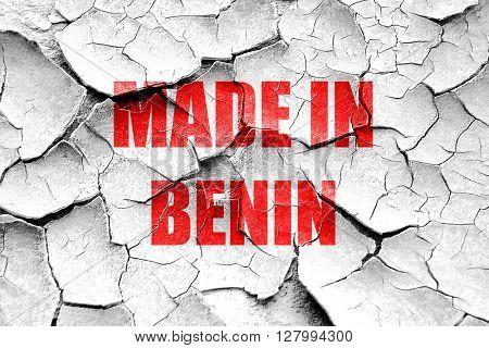 Grunge cracked Made in benin