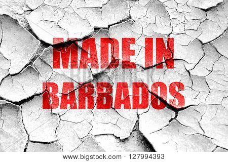 Grunge cracked Made in barbados