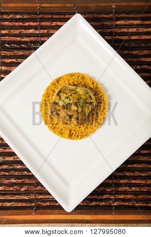 Grilled Fish With Manioc Flour