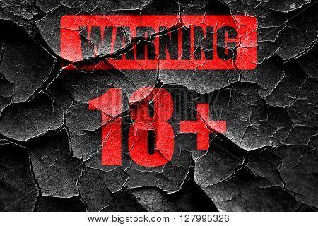 Grunge cracked 18 plus sign