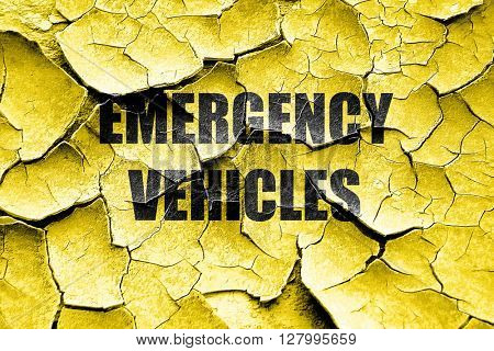Grunge cracked Emergency services sign
