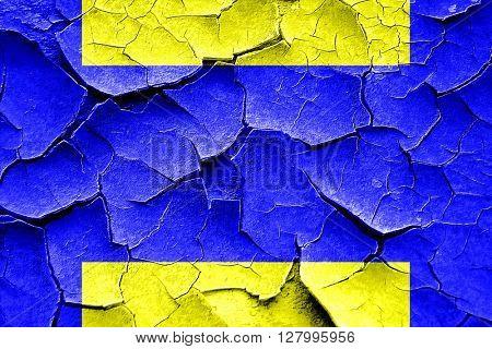Grunge cracked Delta maritime signal flag