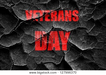 Grunge cracked veterans day background