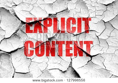 Grunge cracked Explicit content sign