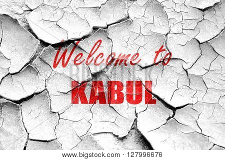 Grunge cracked Welcome to kabul
