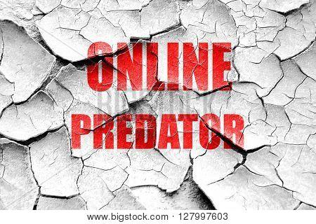 Grunge cracked online predator background