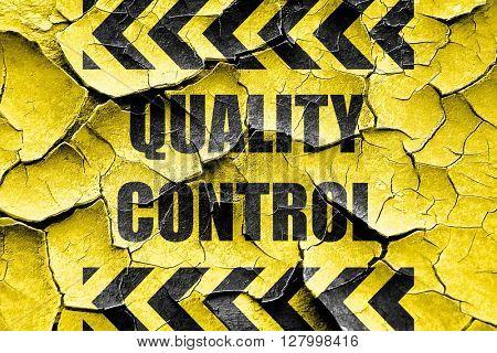 Grunge cracked Quality control background