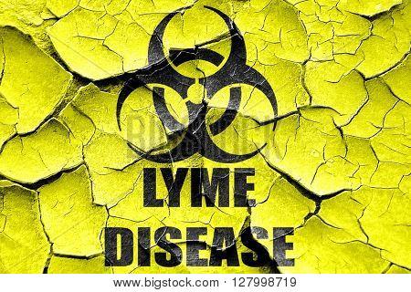 Grunge cracked Lyme virus concept background