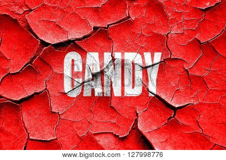 Grunge cracked Delicious candy sign