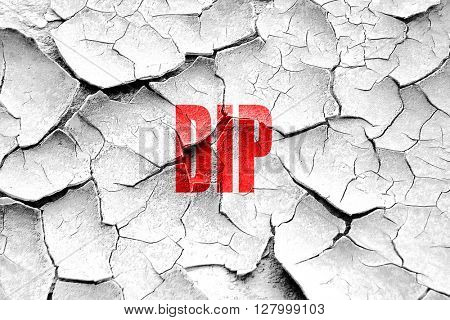Grunge cracked Delicious dip sign