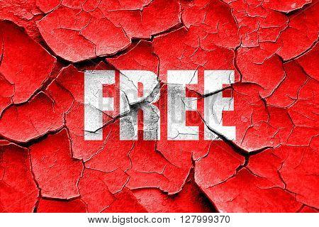 Grunge cracked free sign background