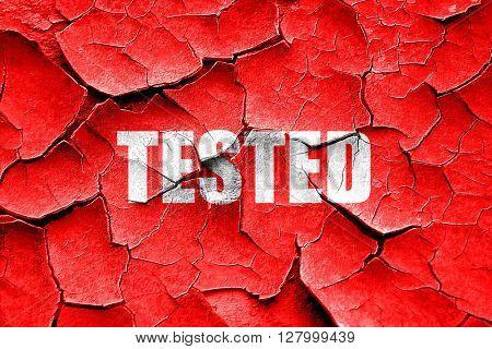 Grunge cracked tested sign background