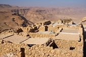 foto of zealots  - Ruins of the ancient Masada fortress in Israel - JPG