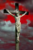 stock photo of he is risen  - crucifixion and resurrection
