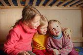 picture of bunk-bed  - happy children in child - JPG